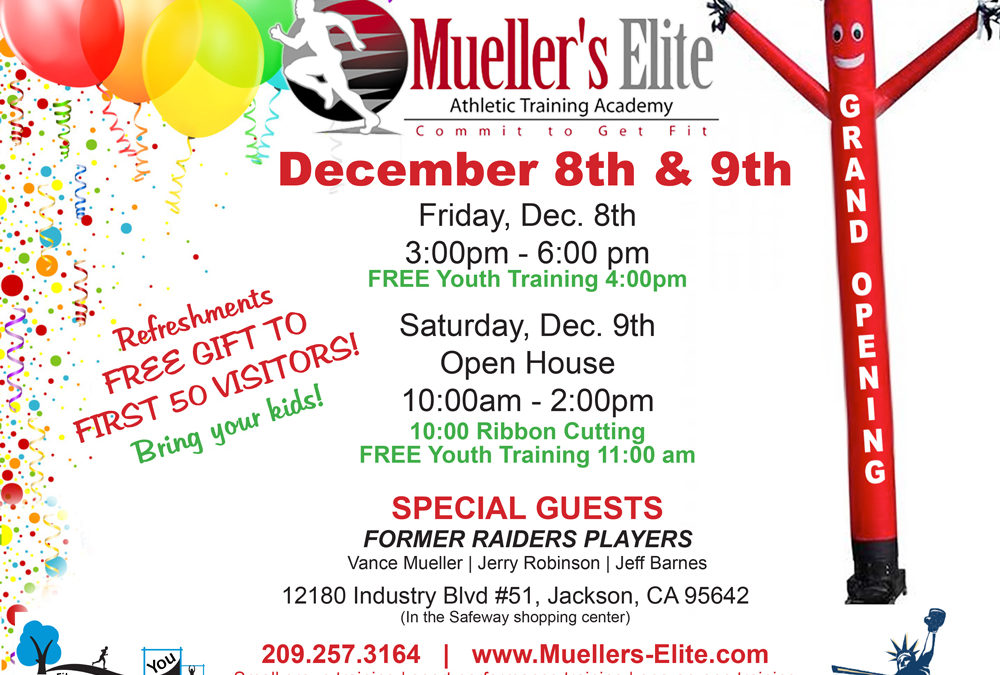 Mueller's Elite Training Celebrates GRAND OPENING